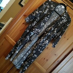 Lularoe Shirley Kimono Stars Size Medium